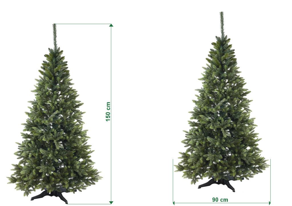 umely-vanocni-stromecek-smrk-ELEGAN-LUX-stinovany-trojvetvy-rozmery-150cm-105cm-stromeckov