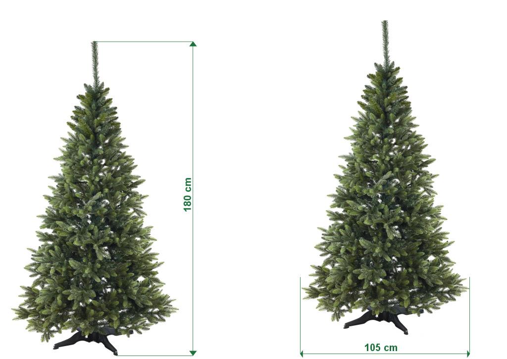 umely-vanocni-stromecek-smrk-ELEGAN-LUX-stinovany-trojvetvy-rozmery-180cm-115cm-stromeckov