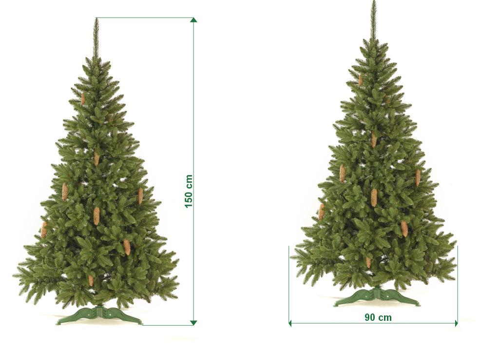 umely-vanocni-stromecek-smrk-ELEGAN-LUX-trojvetvy-rozmery-150cm-105cm-stromeckov